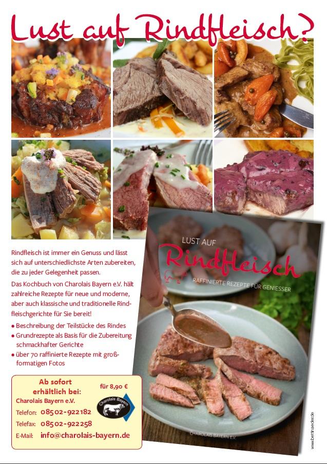 Das Kochbuch mit ca. 70 Rindfleischgerichten von Charolais Bayern