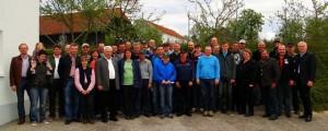 Gruppenfoto mit den anwesenden FIH Fleischrinderzüchtern.